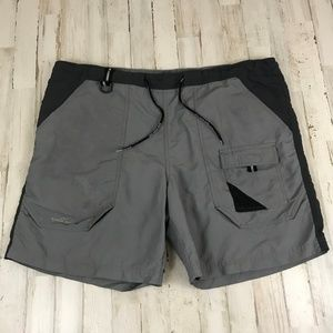 Eddie Bauer Mens Swim Trunks Shorts L Gray UPF 50